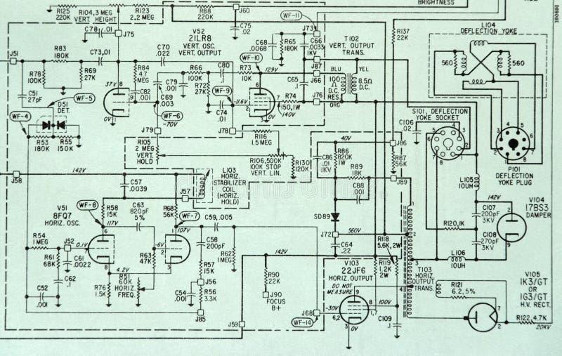 Schema di particolare schematico elettronico di Circcuit immagine stock libera da diritti