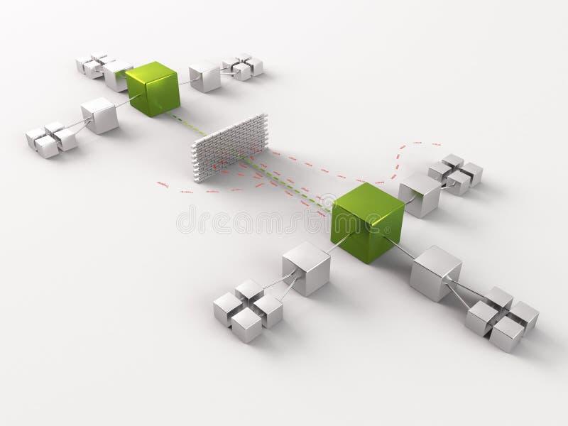 Schema di rete illustrazione vettoriale