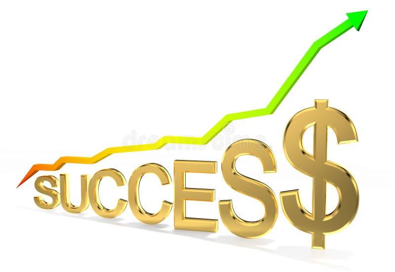 Schema di successo illustrazione di stock