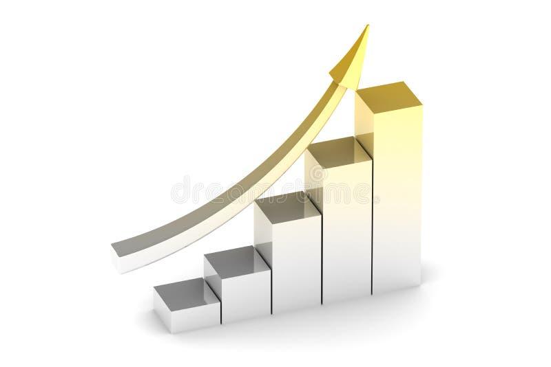 Schema di successo di affari con la freccia royalty illustrazione gratis