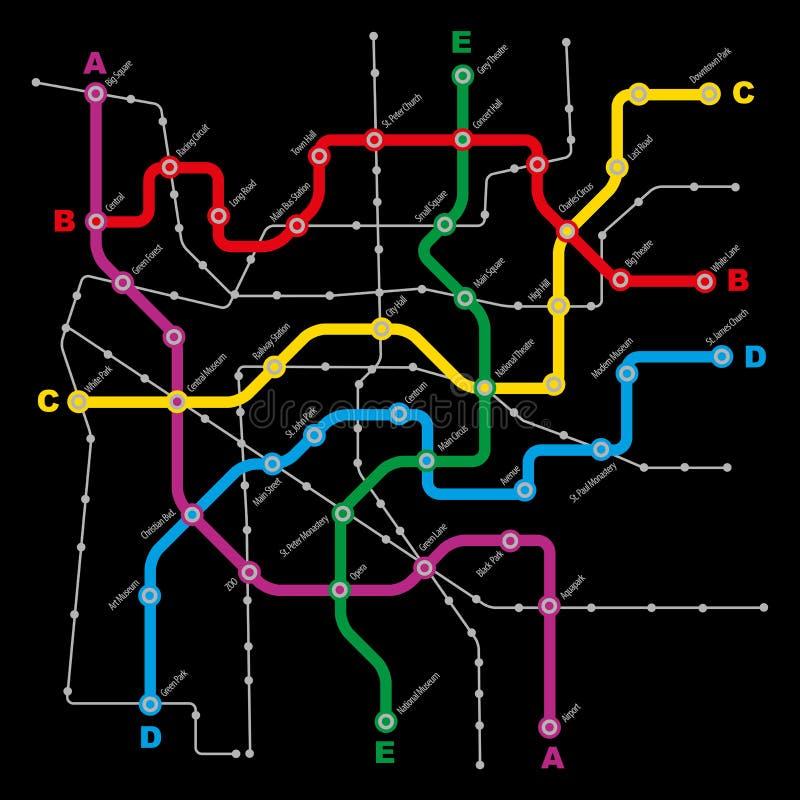 Schema di trasporto pubblico della città royalty illustrazione gratis