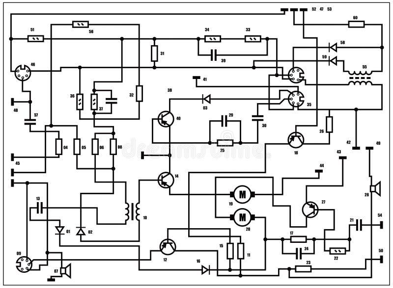 Schema elettrico - priorità bassa di vettore royalty illustrazione gratis