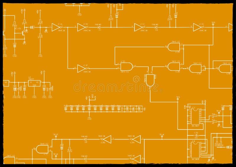 Schema elettronico illustrazione di stock