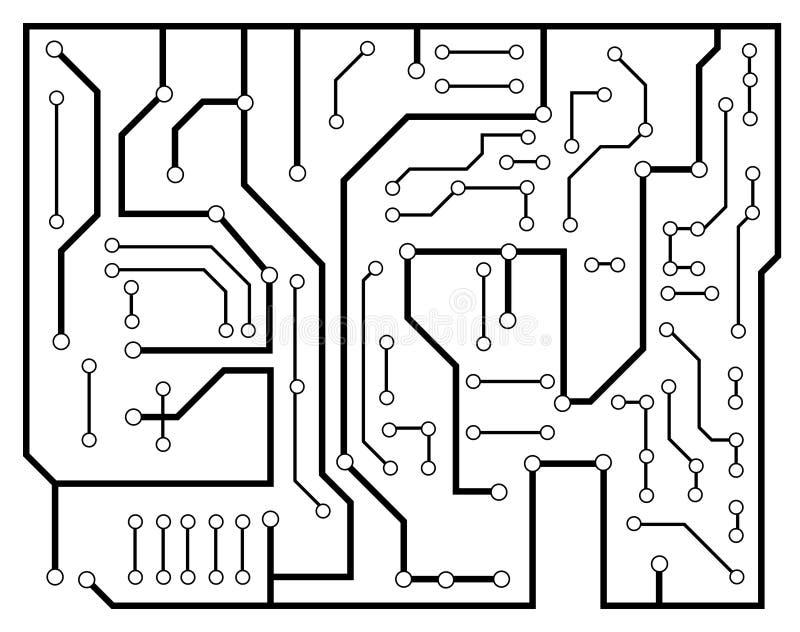 Schema elettronico nero royalty illustrazione gratis
