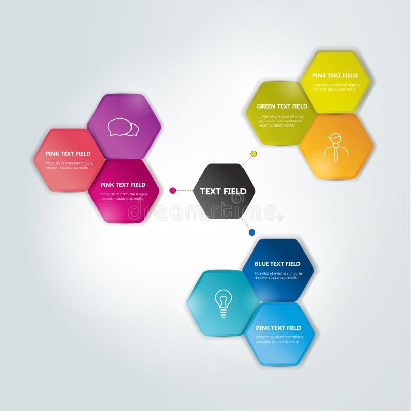 Schema esagonale del cerchio, grafico royalty illustrazione gratis