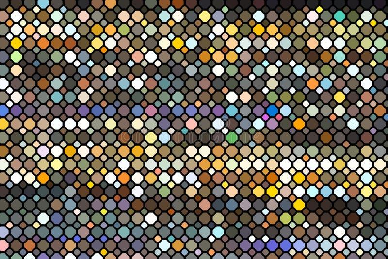 Schema geometrico astratto Schema di stampa della struttura della moda Ciliegi arcobaleno su fondo scuro Illustrazione illustrazione di stock