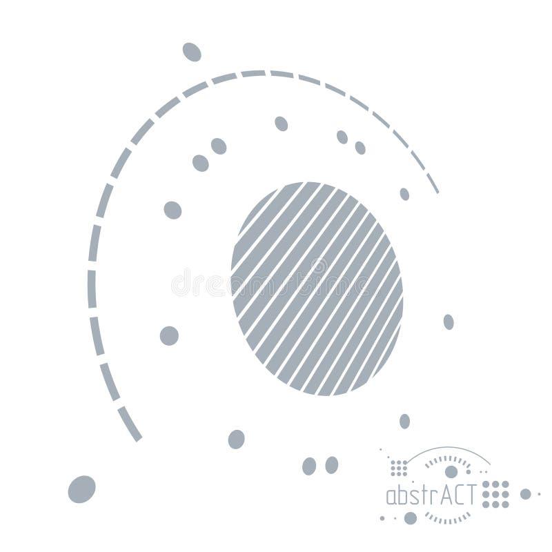 Schema meccanico, disegno di ingegneria di vettore con i cerchi e g illustrazione vettoriale