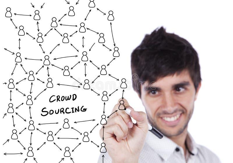 Schema sociale della rete immagine stock