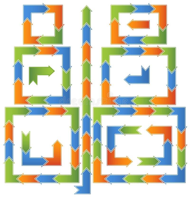 Schema trattato di flusso di lavoro - frecce royalty illustrazione gratis