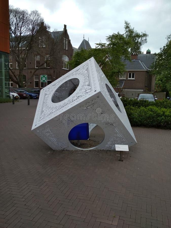 Schema tussen universiteiten in Delft royalty-vrije stock afbeeldingen