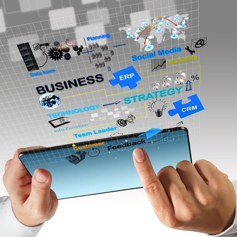 Schema virtuale di processo di affari immagine stock libera da diritti