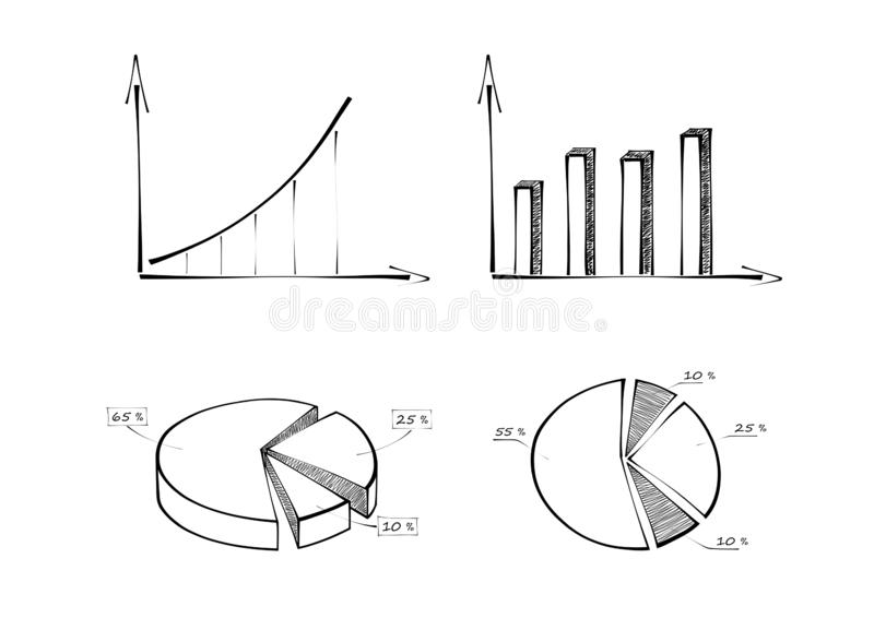 pie chart  diagrams  stock illustration  illustration of successfully