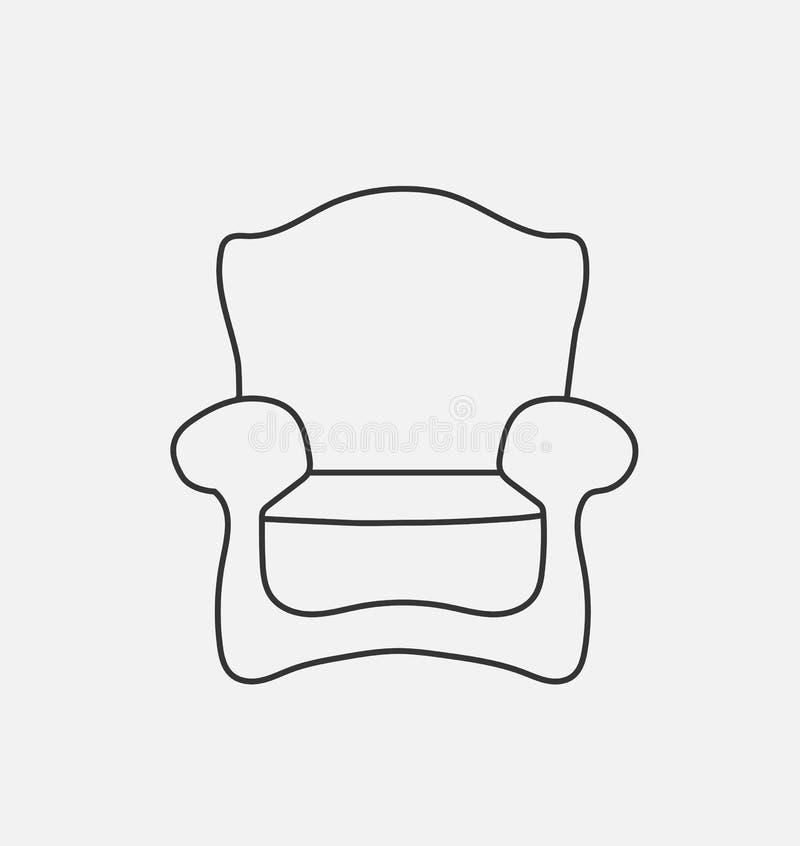 Schematically krzesło Nowożytna mieszkanie stylu wektoru ilustracja royalty ilustracja
