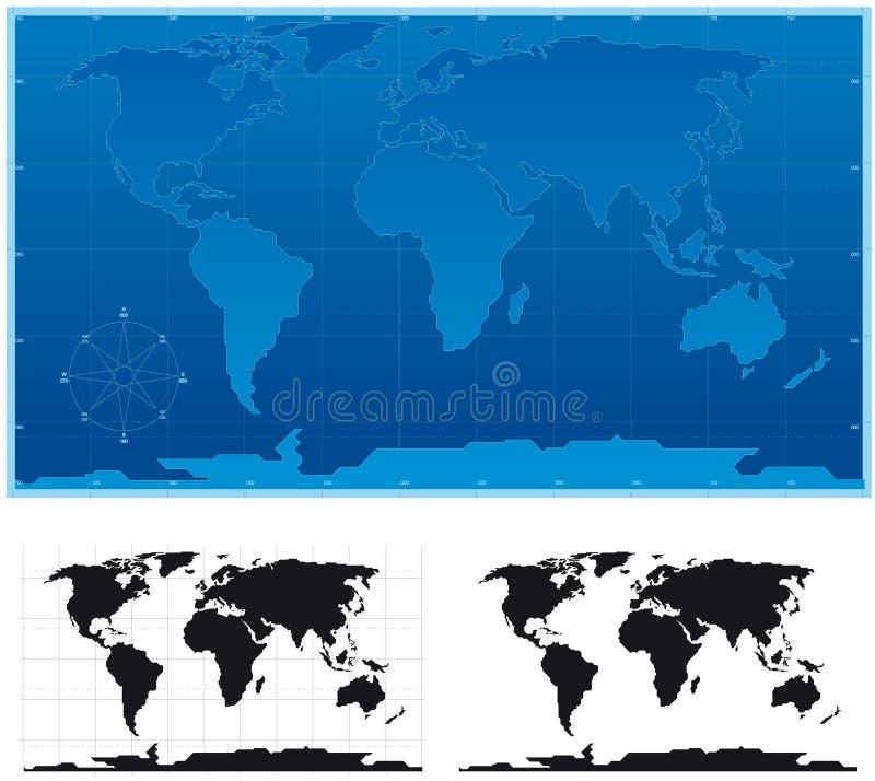 Schematische Wereld vector illustratie