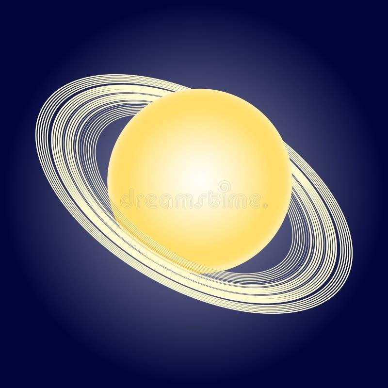 Schematisches Modell Des Planeten Saturn Astronomische Symbole ...