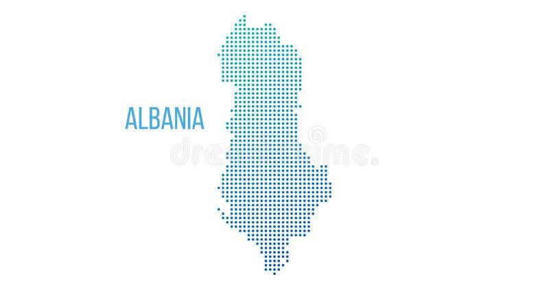 Schematyczna Albania mapa Wektorowego halftone terytorialny plan Gradientowy kartograficzny skład Abstrakcjonistyczna Albania map royalty ilustracja