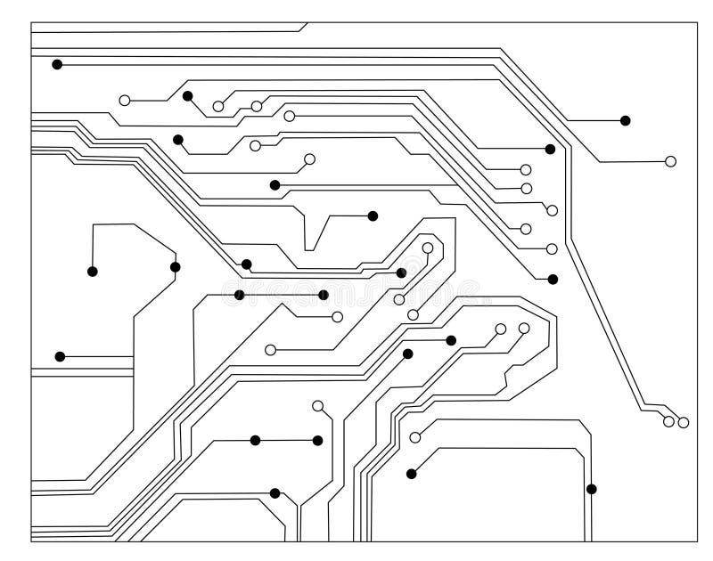 Scheme electronic vector stock vector. Illustration of black - 5007623