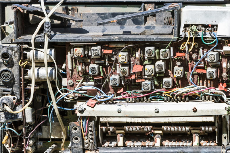 Scheme old radio, radio parts. Scheme old radio, radio parts stock photography