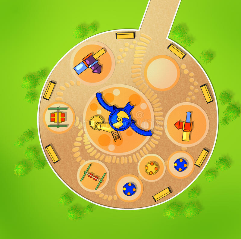 Download The Scheme Of The Playground From Above. Stock Illustration - Image: 21128801
