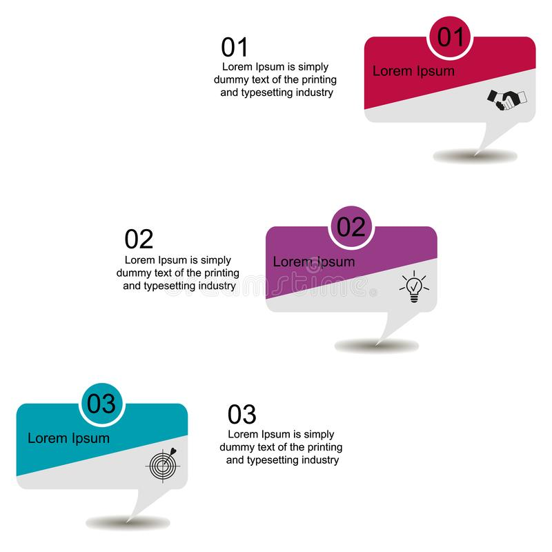Scheme of the process of elements by means of graphs, diagrams, transparent circles and ovals in four stages. Business data visualization, infographics. Scheme vector illustration