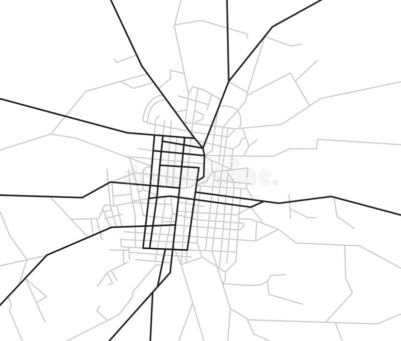 Scheme of streets - city map - vector vector illustration