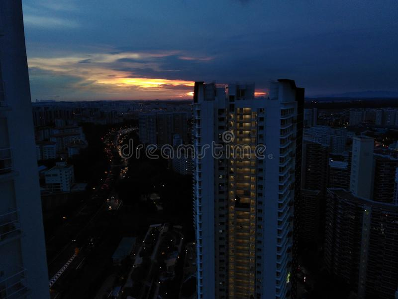 Schemer over Bukit Batok, Singapore stock fotografie