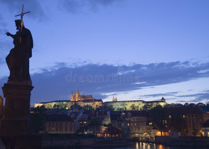 Schemer in Praag royalty-vrije stock foto's