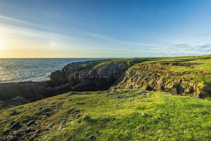Schemeringlandschappen over het Eiland van Lewis-kusten, Schotland royalty-vrije stock foto