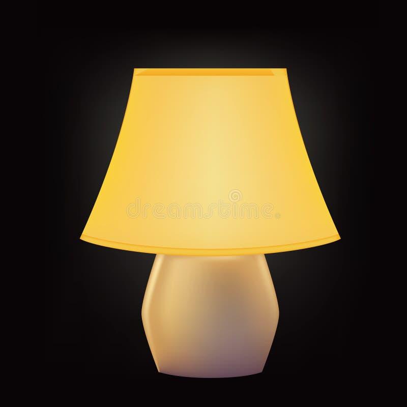 Schemerlamp met lampekap royalty-vrije illustratie