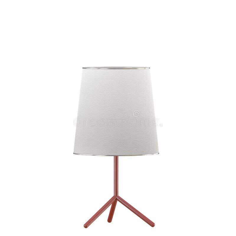 Schemerlamp met lampekap op een witte 3d achtergrond vector illustratie