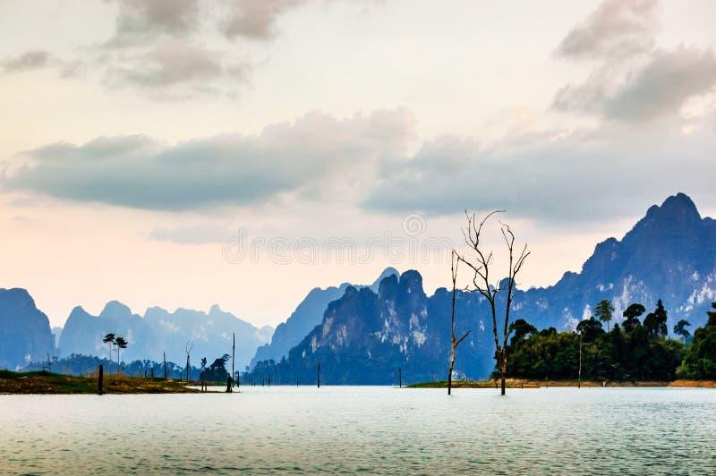 Schemermening, Khao Sok National Park royalty-vrije stock foto