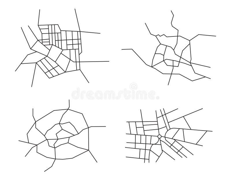 Schemi delle città - insieme royalty illustrazione gratis