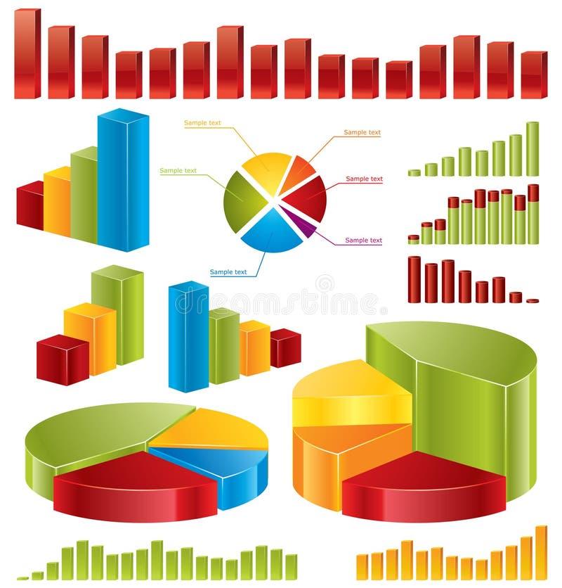 Schemi, statistiche illustrazione vettoriale
