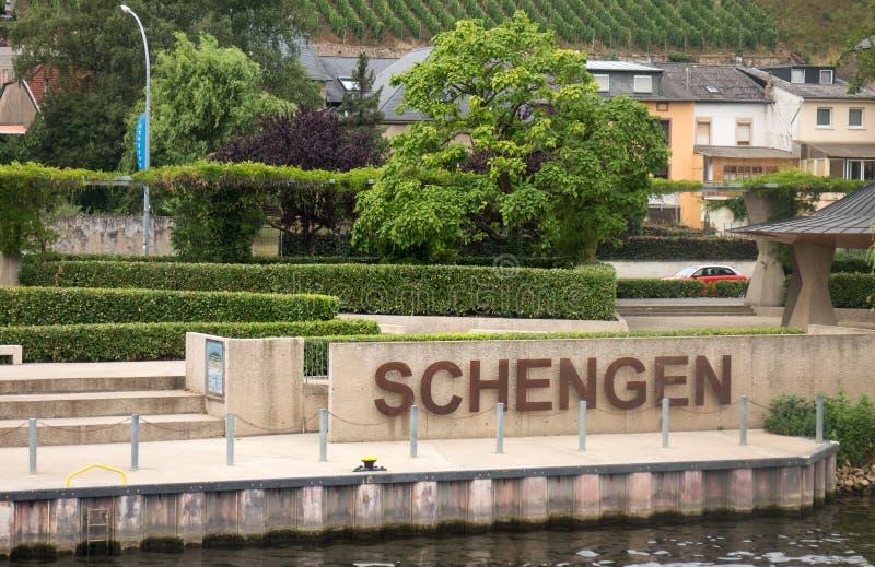 Schengen royalty-vrije stock fotografie