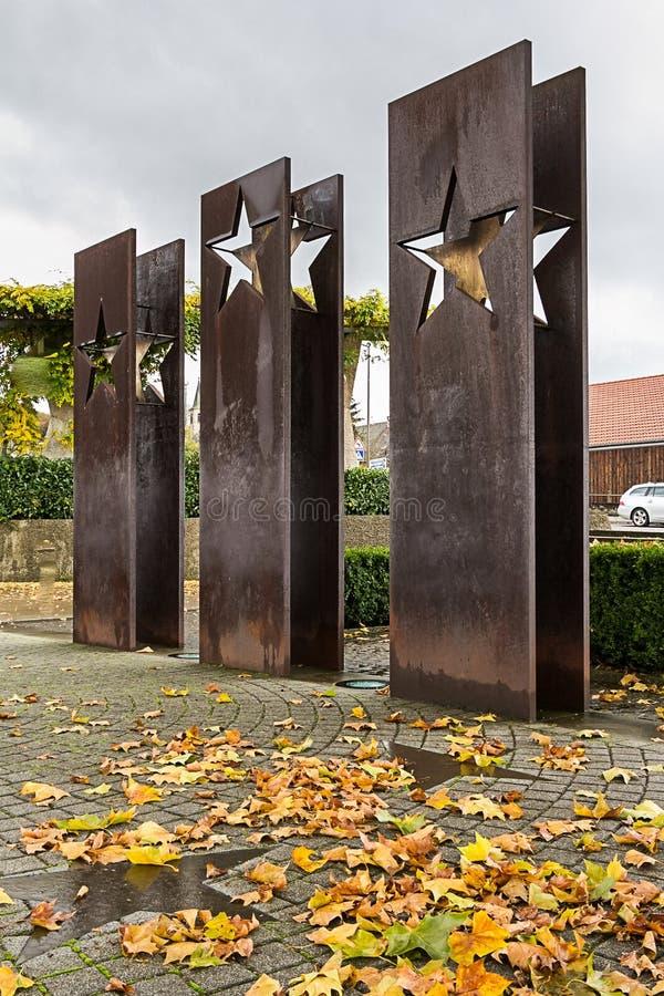 SCHENGEN, LUXEMBOURG - NOVMEBER 6, 2015: Monument Schengen Agreement. Monument Schengen Agreement symbolises the free movement of people and goods in 25 European stock image
