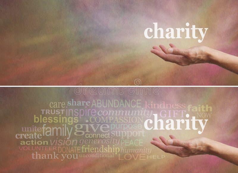 Schenk aan de banner van de Liefdadigheidscampagne royalty-vrije stock afbeelding