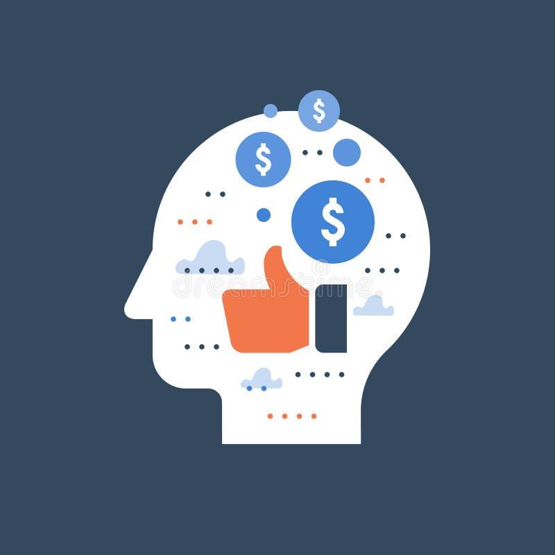 Schenking en menigte de financiering, het verdienen geld op sociale media, marketing concept, int achterprogramma, financiële mot royalty-vrije illustratie