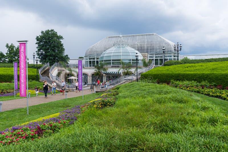 Schenleypark naast de Universiteit van de Staat van Pittsburgh in Pittsburgh, stock fotografie