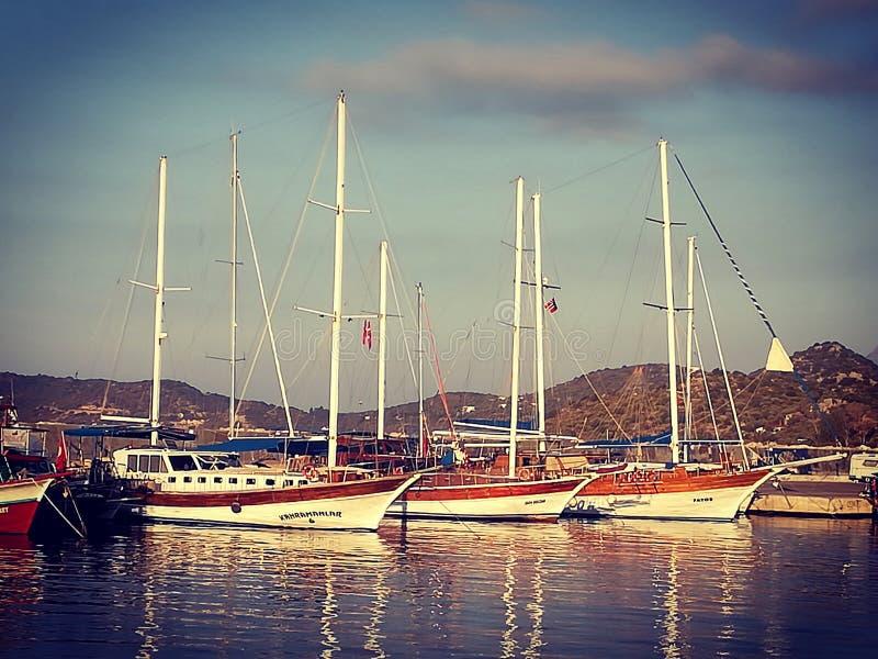 schepen stock afbeelding