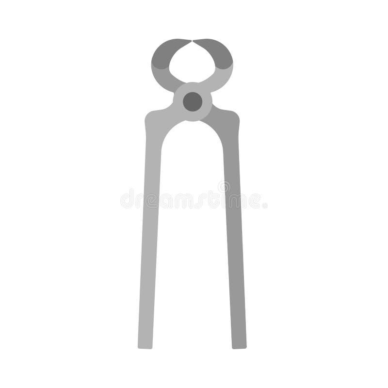 Scheren funktionieren Vektor-Ikonenwerkzeug der Industrie mechanisches plombierendes Zimmereibau-Verlegenheitsausrüstung Ausrüstu stock abbildung