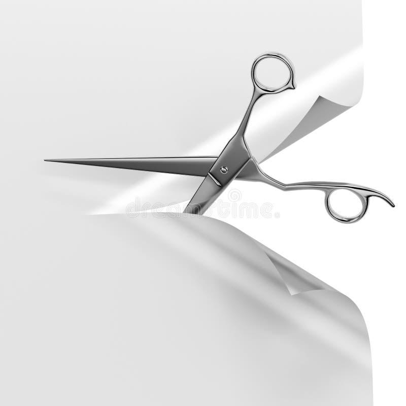 Scheren und Papier lizenzfreie abbildung