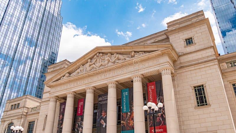 Schermerhorn symfonimitt i Nashville - NASHVILLE, USA - JUNI 15, 2019 royaltyfri fotografi