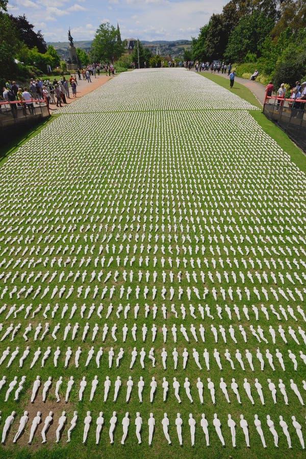 Schermi della mostra di Somme a Exeter fotografia stock libera da diritti