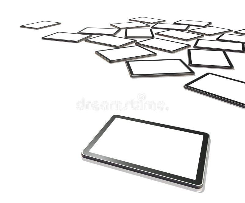 schermi di 3D TV, PC digitale del ridurre in pani illustrazione vettoriale