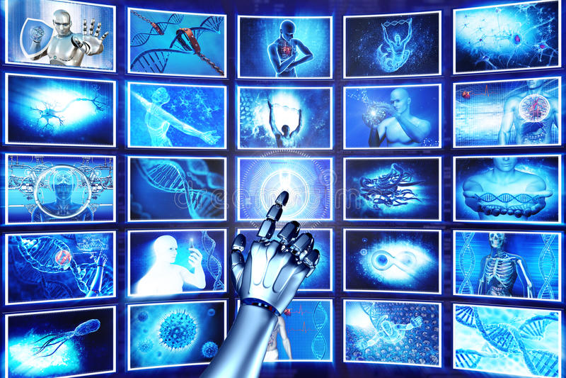 schermi di Ciao-tecnologia fotografia stock