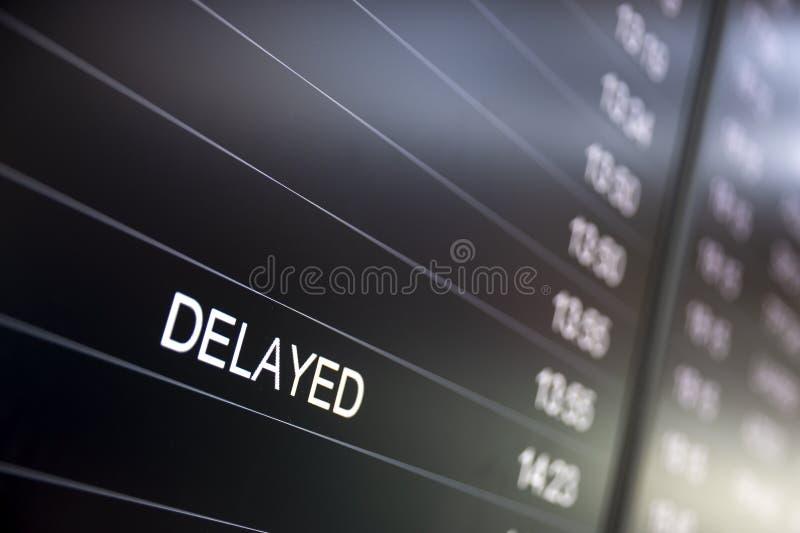 Schermi di monitor di tempo di imbarco in ritardo immagini stock libere da diritti