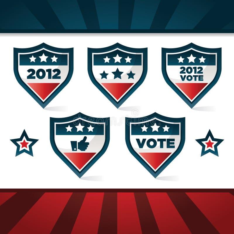 Schermi di voto patriottici illustrazione vettoriale