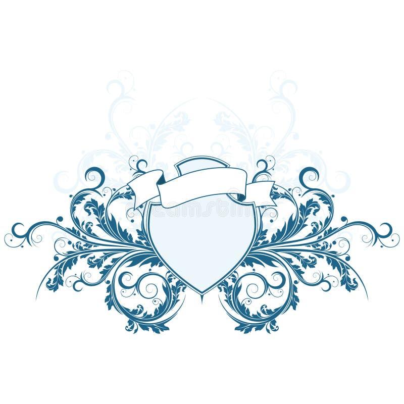 Schermo araldico royalty illustrazione gratis