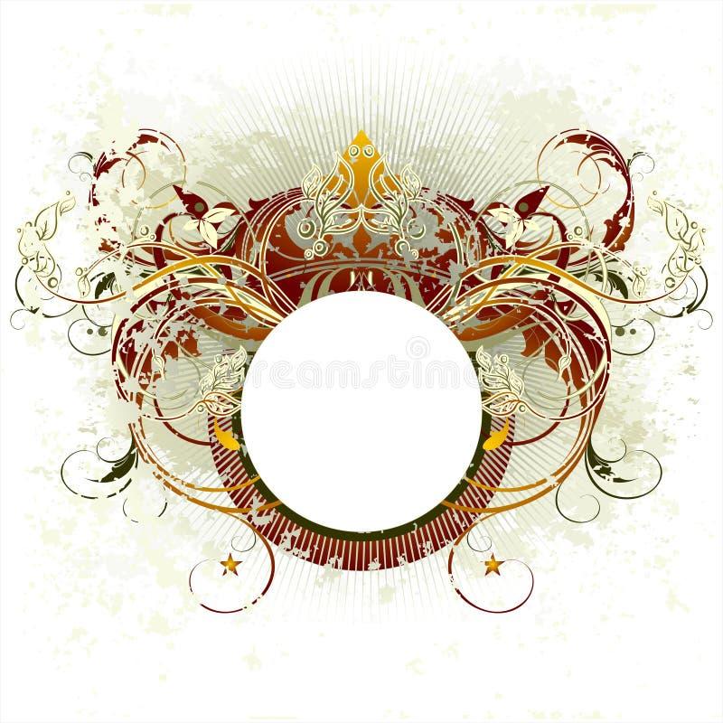 Schermo araldico medioevale royalty illustrazione gratis