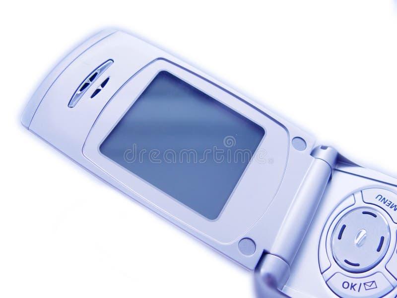 Schermo in bianco del telefono cellulare fotografia stock libera da diritti
